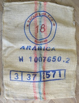 Jutový pytel od kávy Colombia