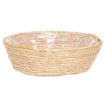 Košík z mořské trávy / Obal na květináč