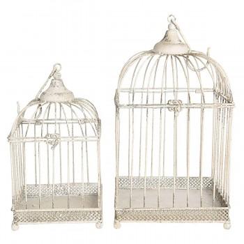 Dvě dekorativní ptačí klece