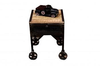 Odkládací stolek z mangového dřeva a oceli