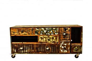 Media stolek Vintage z mangového dřeva