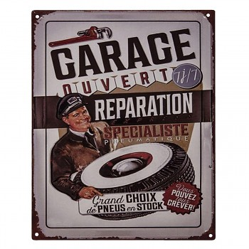 Plechová cedule GARAGE