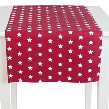 Běhoun na stůl CATCH A STAR red 50*140 cm