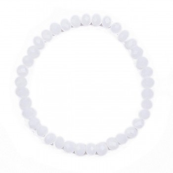 Náramek bílý průměr  white cm