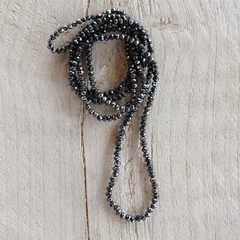 Náhrdelník černý  black cm