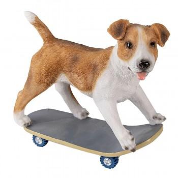 Pes na skateboardu