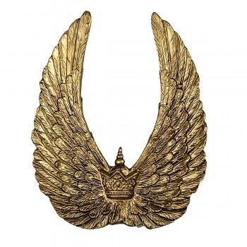 Dekorativní křídla s korunkou
