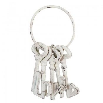 Kovový svazek klíčů WHITE
