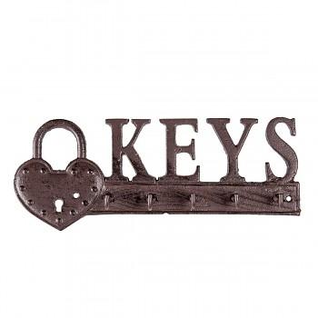 Nástěnný věšák na klíče