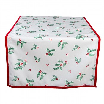 Běhoun na stůl HOLLY CHRISTMAS 50*140 cm