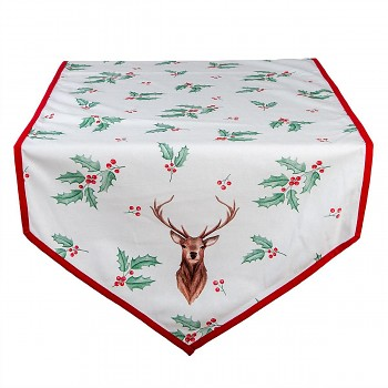 Běhoun na stůl HOLLY CHRISTMAS 50*160 cm