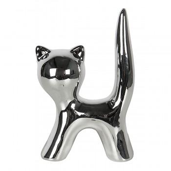 Dekorativní kočička SILVER