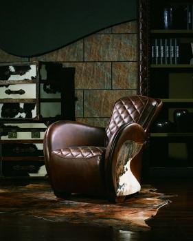 Kožené křeslo Luxury Vintage Texas