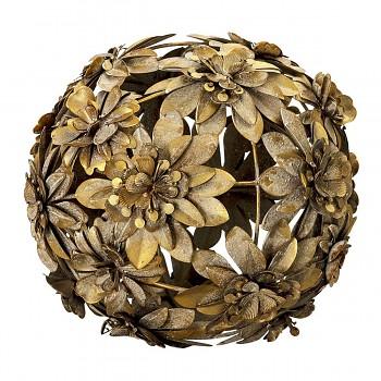 Dekorativní kovová koule z květů