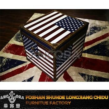 Stolek / kufr / truhla U.S. Flag