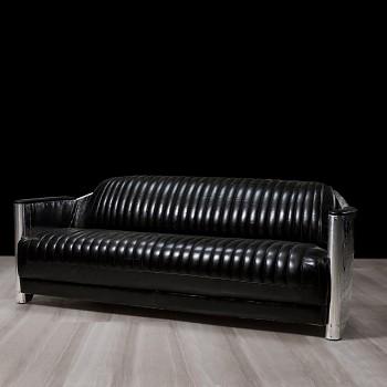 Kožená sedačka Luxury Club Aero pro 3 osoby