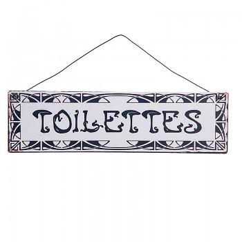 Cedulka k označení místnosti TOILETTES