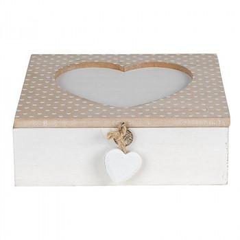 Dřevěná krabička HEART