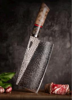 """Prémiový kuchyňský sekáček PEDWIFE 7.5"""" 103 vrstev damaškové oceli"""