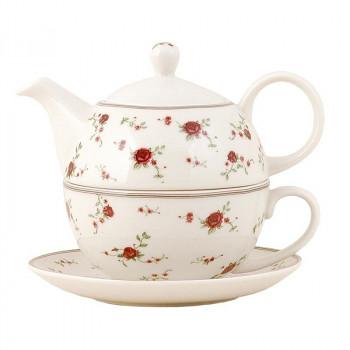 Keramická čajová souprava pro jednoho LA PETITE ROSE
