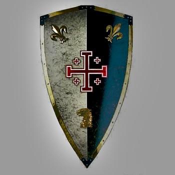 Štít jeruzalémských křižáků