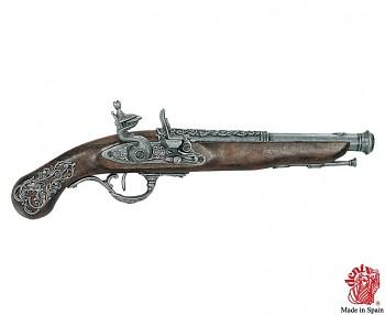 Anglická křesadlová pistole 18.století