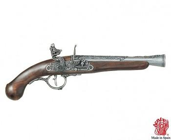 Německá křesadlová pistole , 18. stol.