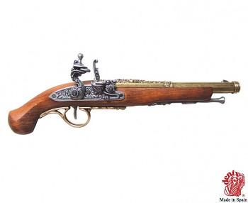 Křesadlová pistole Anglie 18. století