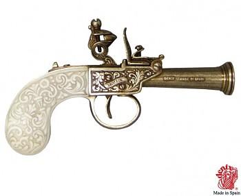 Křesadlová pistole Anglie 1798, 16 cm