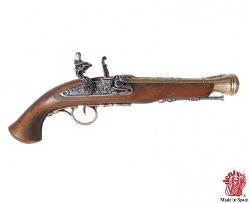 Pistole s křesacím zámkem, 18. stol