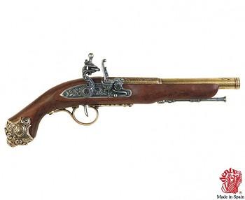 Pistole s křesacím zámkem, 18. stol.