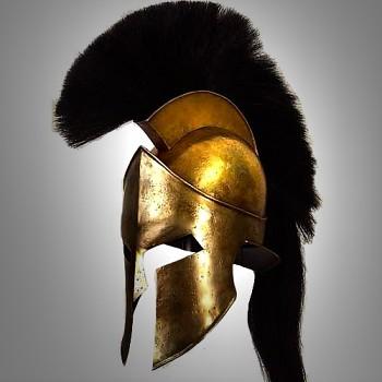 Řecká helma bojovníků svobodné Sparty