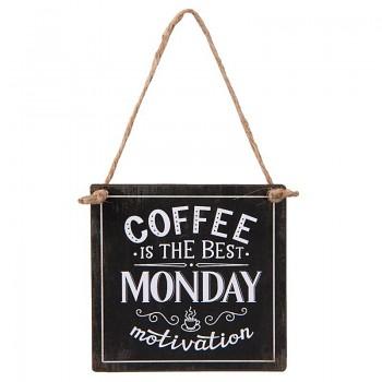 Plechová cedulka COFFEE MONDAY