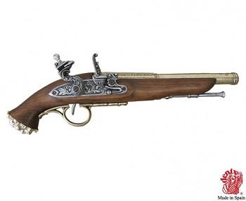 Pirátská křesadlová pistole 18. století