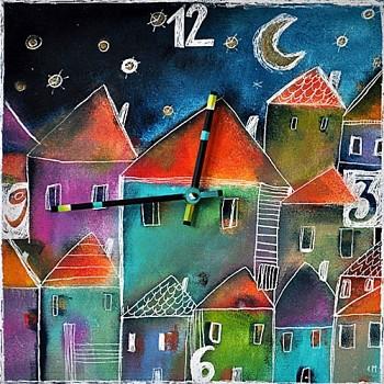 Keramické hodiny la Ville
