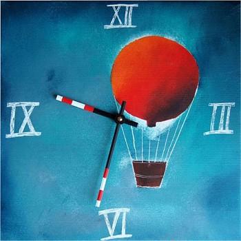 Keramické hodiny Balón