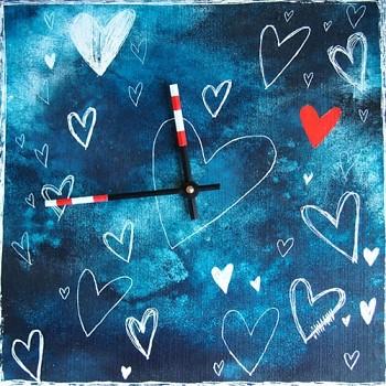 Keramické hodiny Srdce