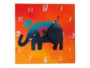 Keramické hodiny Slon