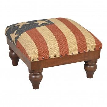 Čalouněná rustikální stolička U.S.A. flag