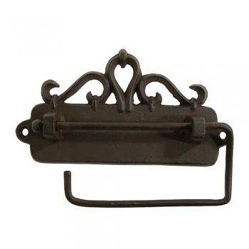 Kovový držák toaletního papíru Nostalgia černý