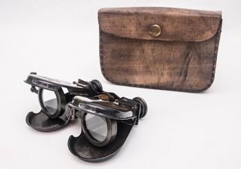 Marina binokulární dalekohled z antické mosazi