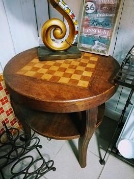 Starožitný šachový stolek, počátek 20.století, 60x60xcm