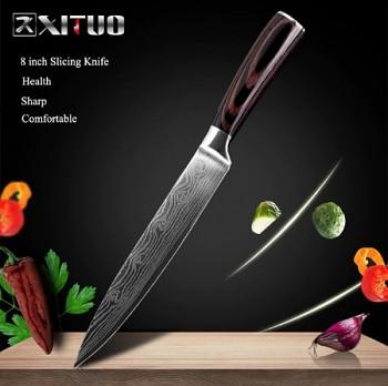 """Plátkovací nůž 8"""" XITUO ocel 7CR17 440C"""
