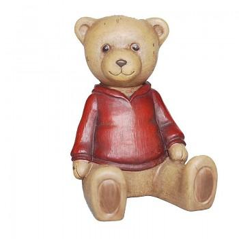 Medvídek v červeném svetříku