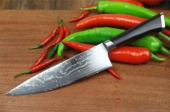 """Nůž šéfkuchaře 8"""" XINZUO 67 vrstev damaškové oceli"""