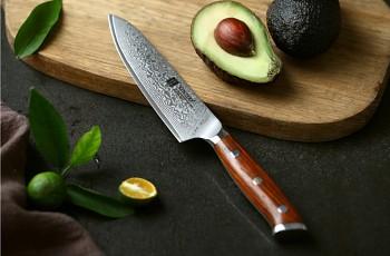 """Víceúčelový nůž 5"""" XINZUO 67 vrstev damaškové oceli"""
