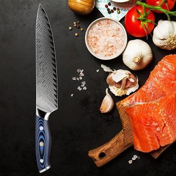 "Šéfkuchařský nůž 8"" XITUO HOKURIKU 67 vrstev damaškové oceli"