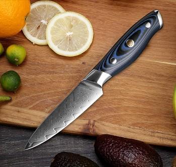 """Víceúčelový nůž 3.5"""" XITUO 67 vrstev damaškové oceli"""