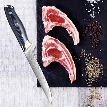 """Vykošťovací nůž 5.5"""" XITUO 67 vrstev damaškové oceli"""