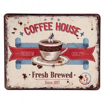 Plechová cedulka COFFEE HOUSE